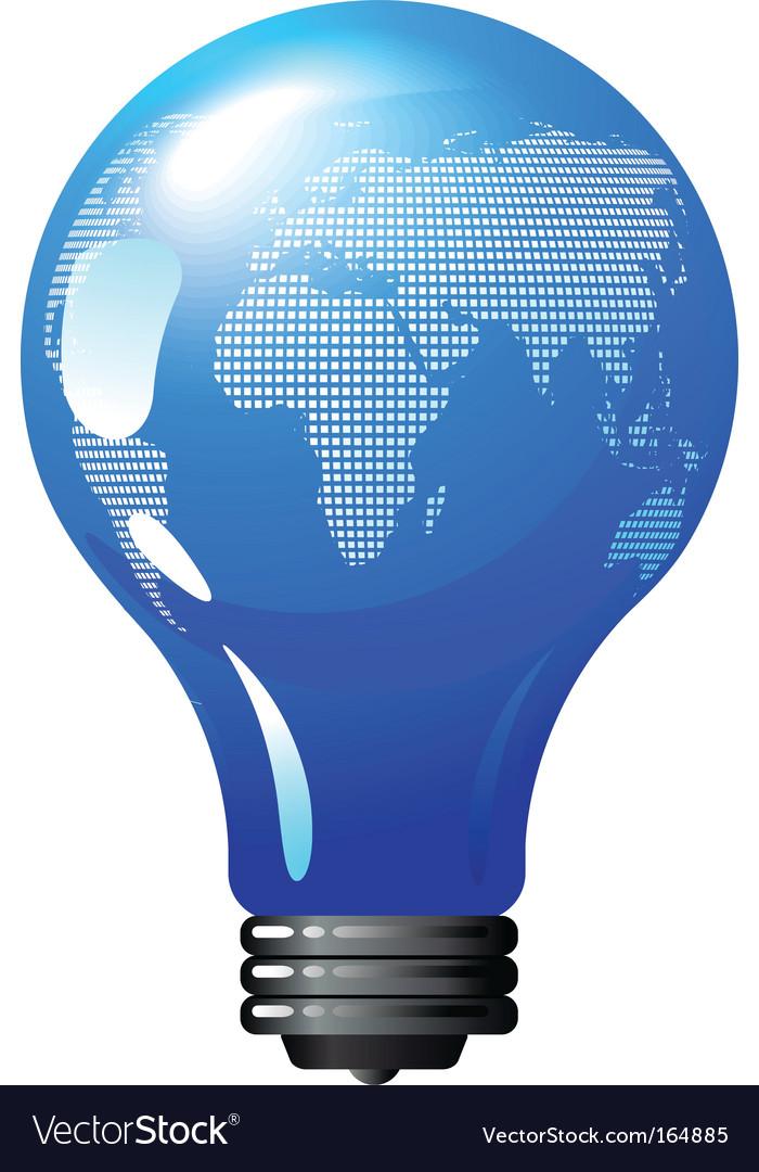 Environmental concept light bulb globe vector image