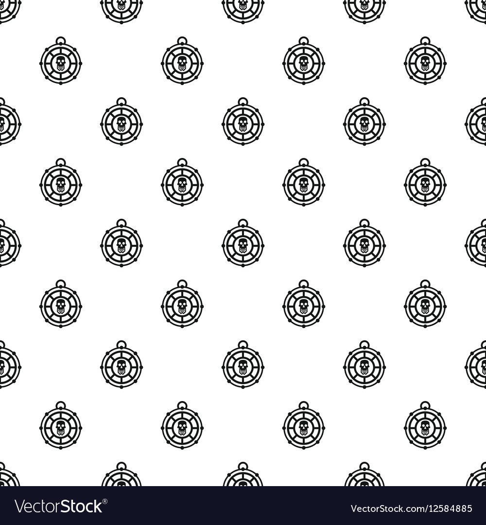 Human skull amulet pattern simple style vector image