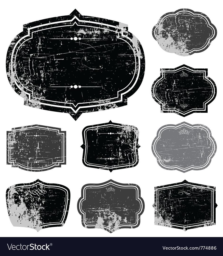 Distressed frame set vector image