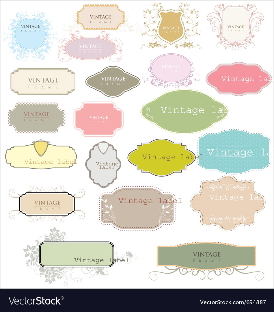 Vintage empty labels vector image