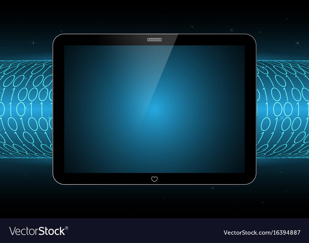 Technology future modern tablet binary tube vector image