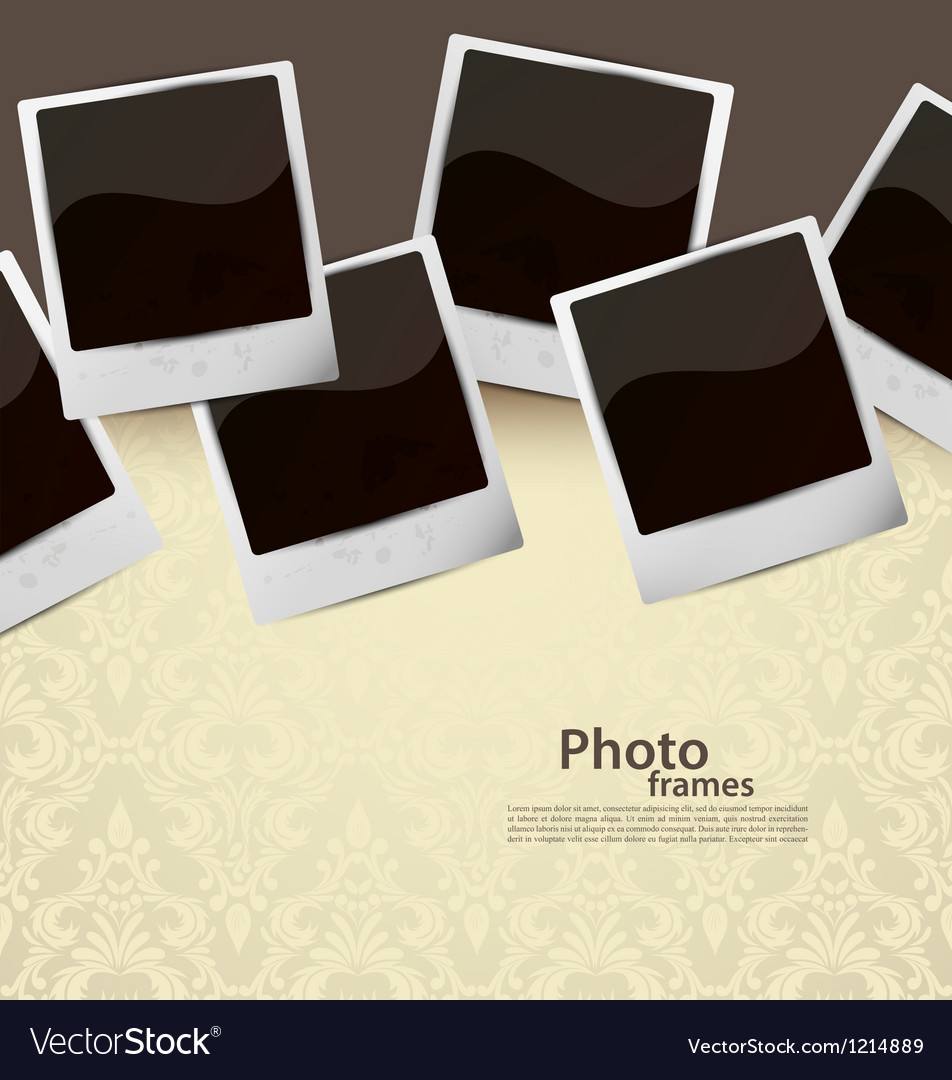 Background with photoframes vector image