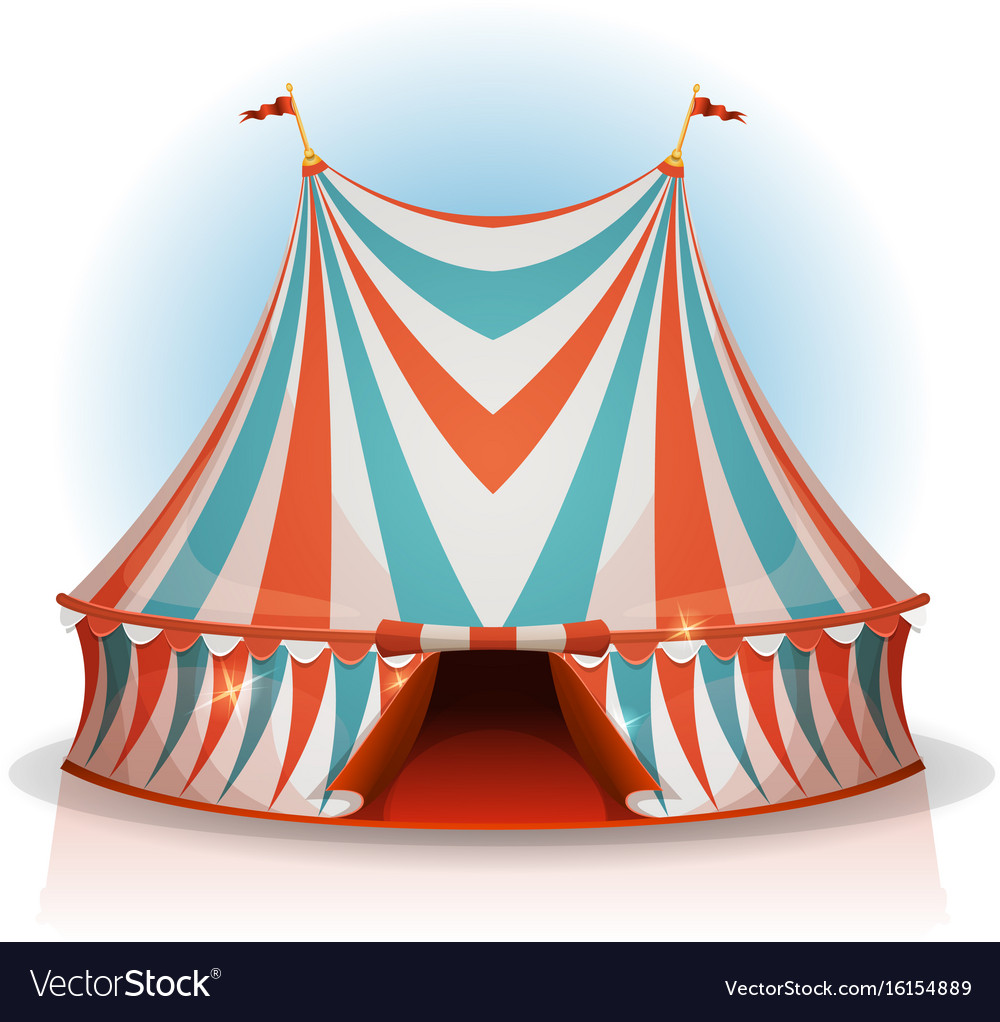 Big top circus tent vector image  sc 1 st  VectorStock & Big top circus tent Royalty Free Vector Image - VectorStock