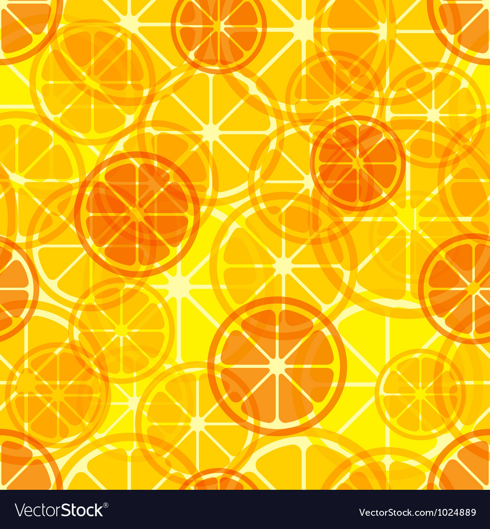 Citrus seamless pattern vector image