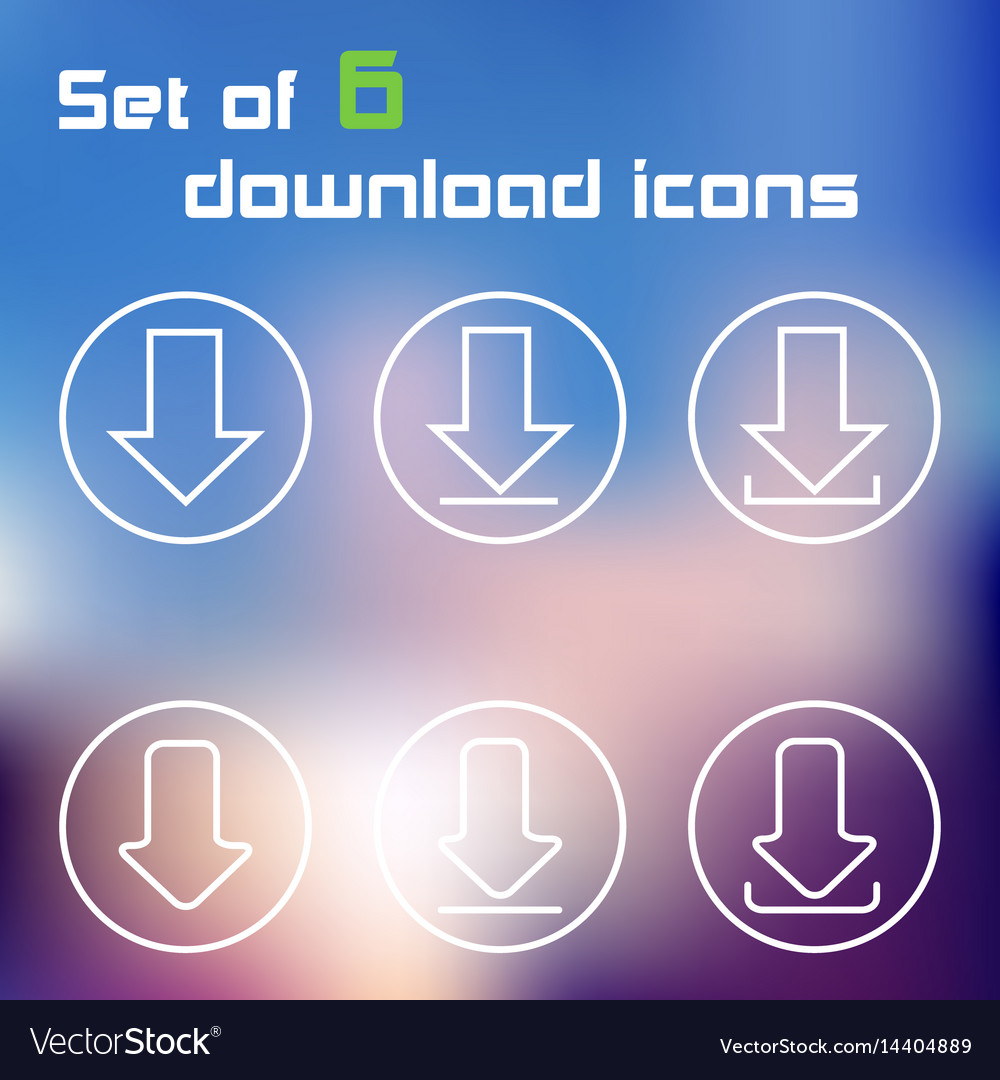 Set of download button icons vector image