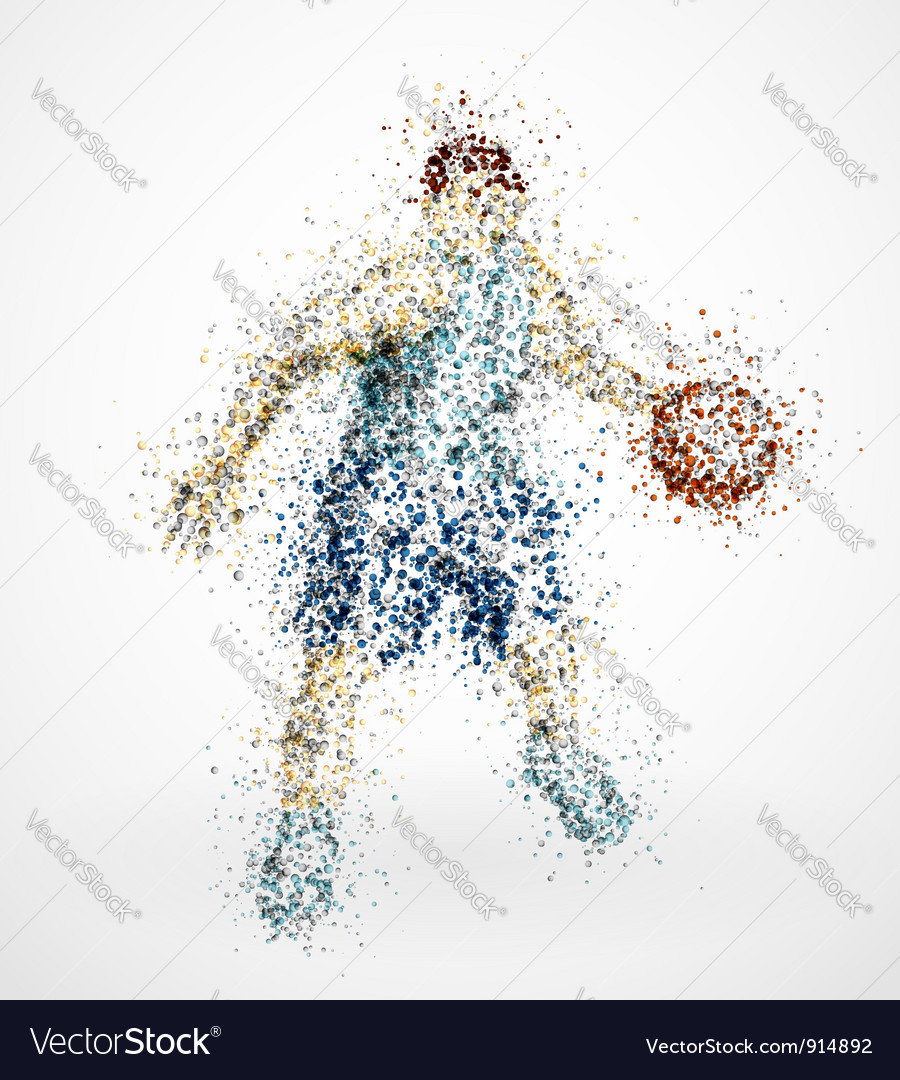 Abstract basketball player vector image