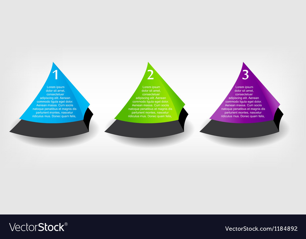 Concept of colorful banners for different business vector image