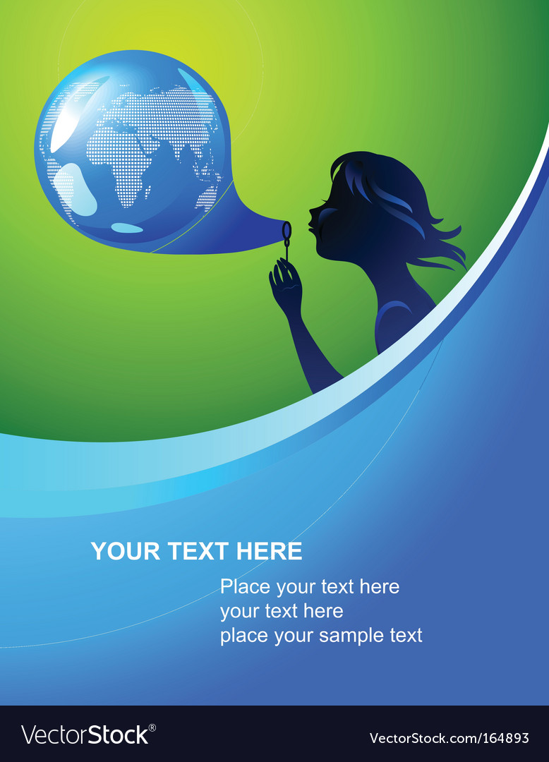 Globe bubble template vector image