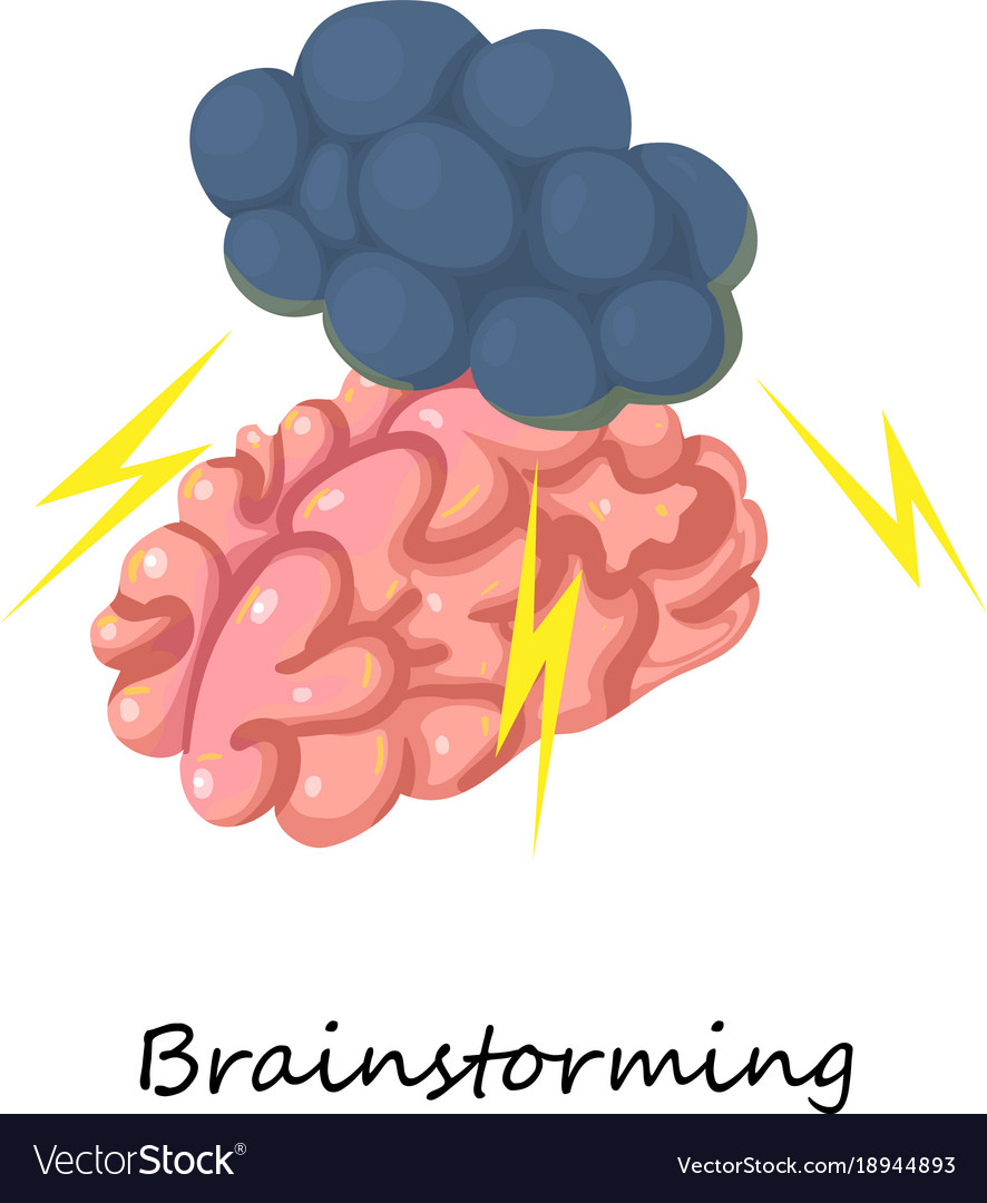 Brainstorming icon isometric 3d style vector image