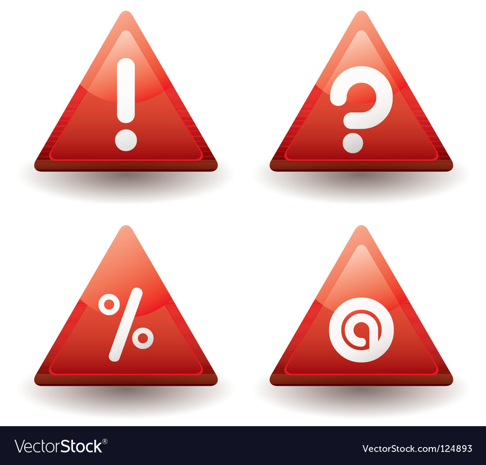 Sign triangle vector image