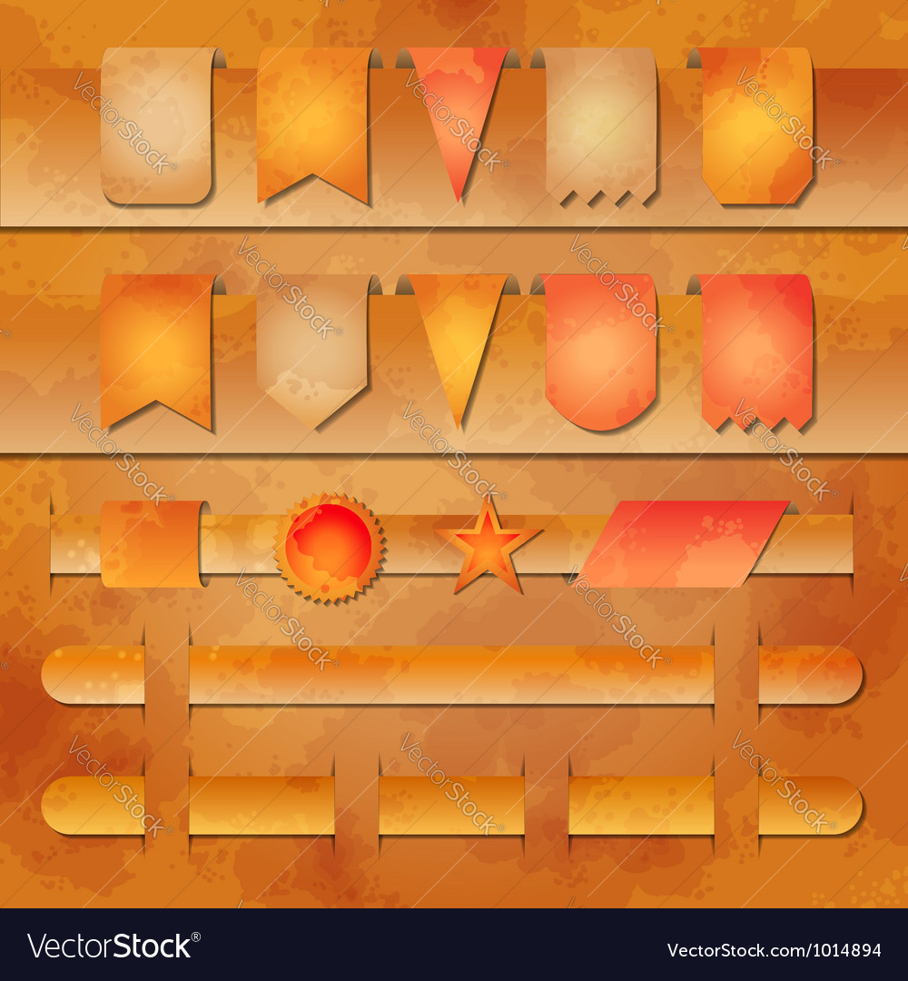 Set of banners and label tags for web desig vector image