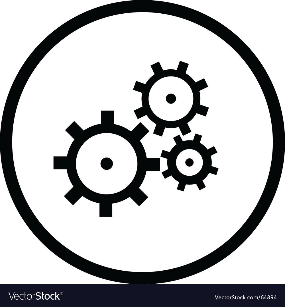 Gearswheel logo vector image