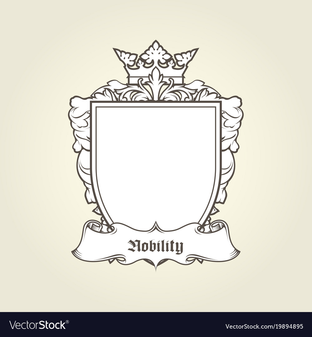 Blank template of coat of arms - shield Royalty Free Vector