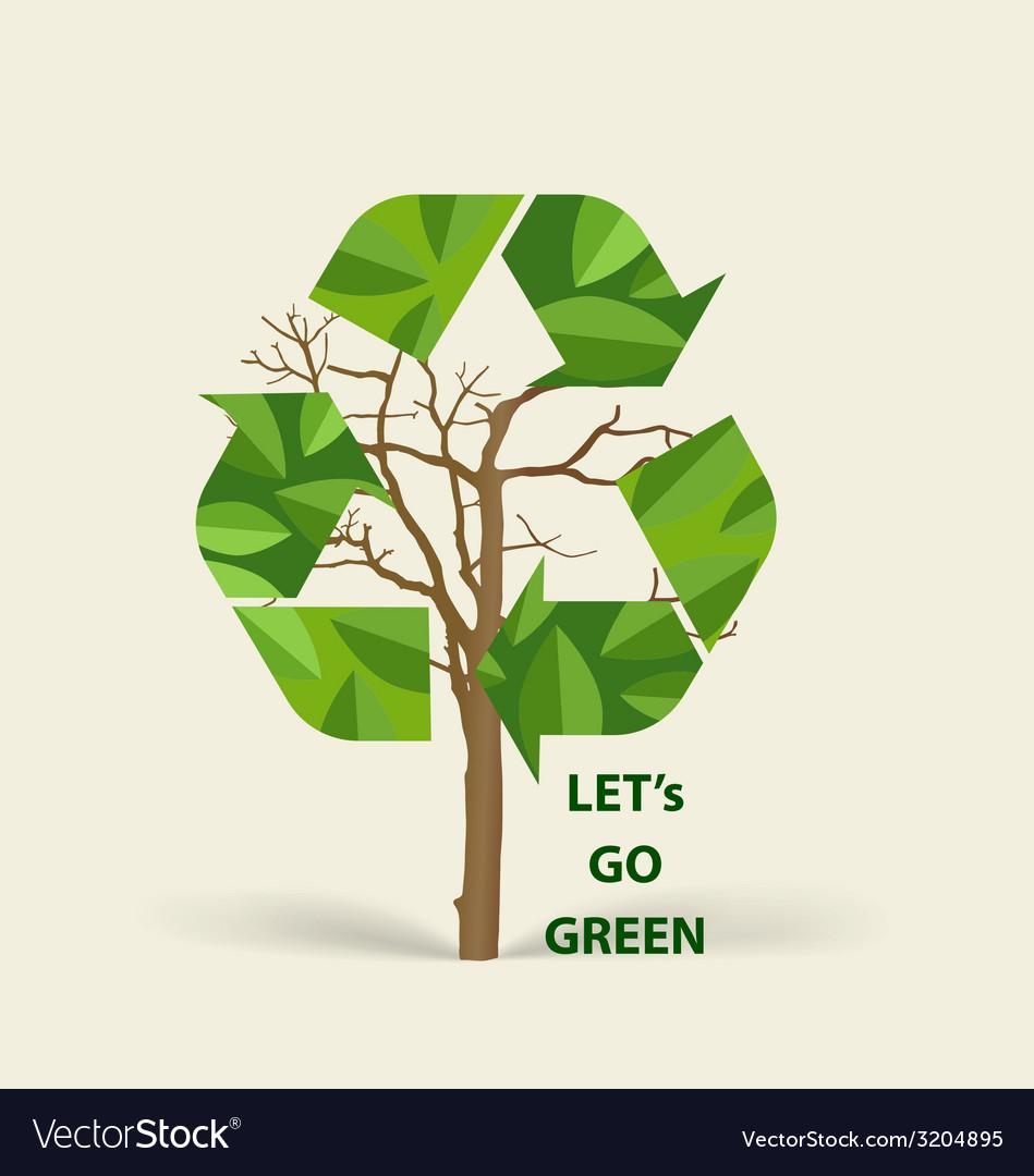 Tree shaped recycle symbol symbol on the packaging tree shaped recycle symbol symbol on the packaging vector image buycottarizona Images
