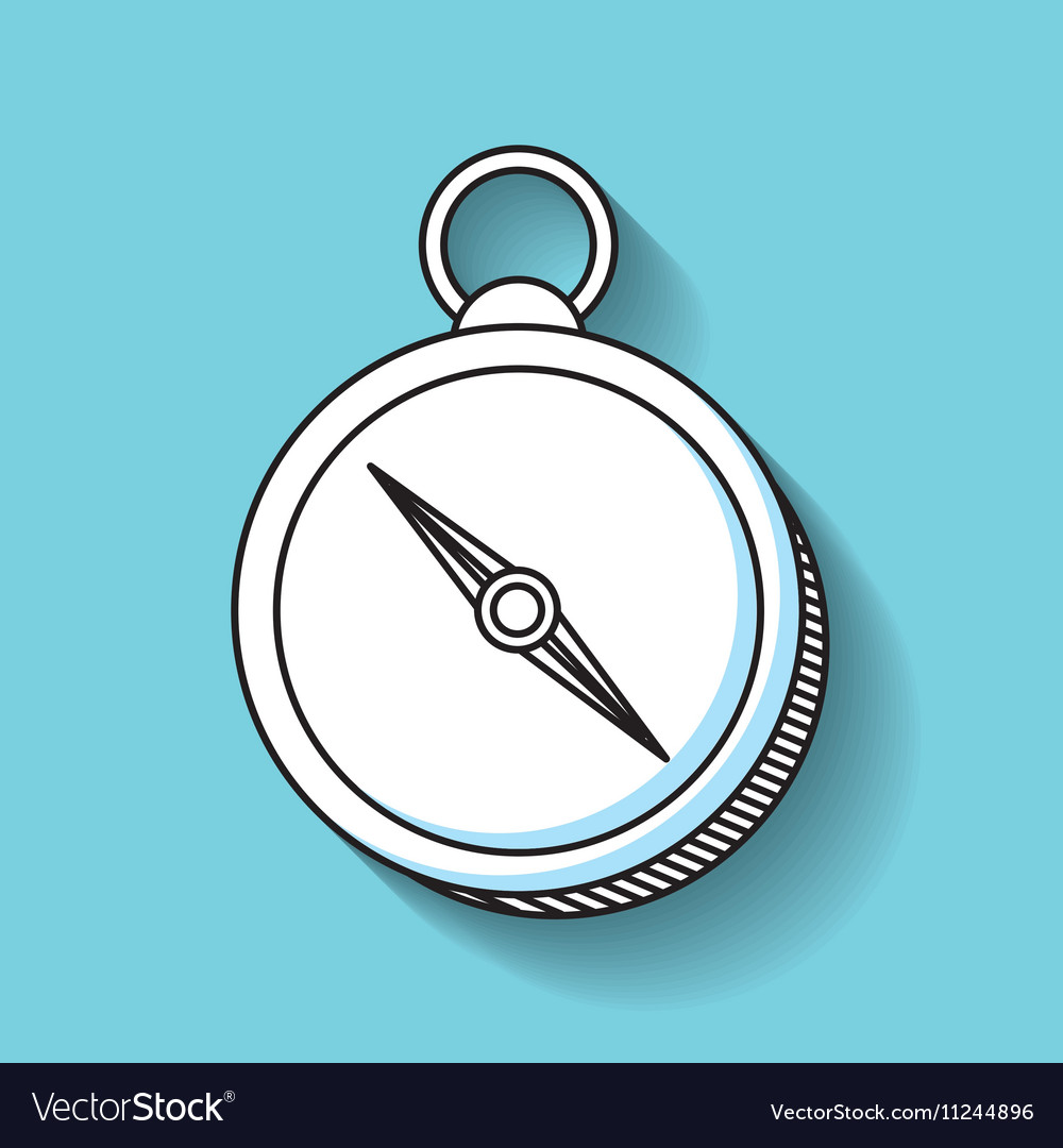 Compass device guide line icon vector image