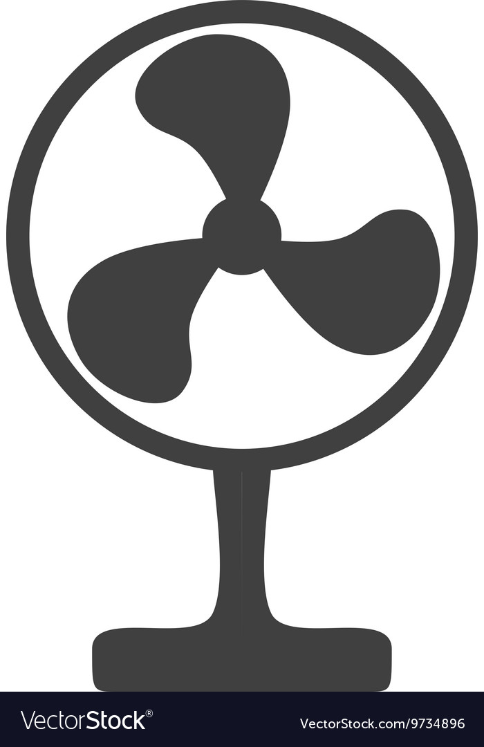 Fan icon Object of Home design graphic vector image