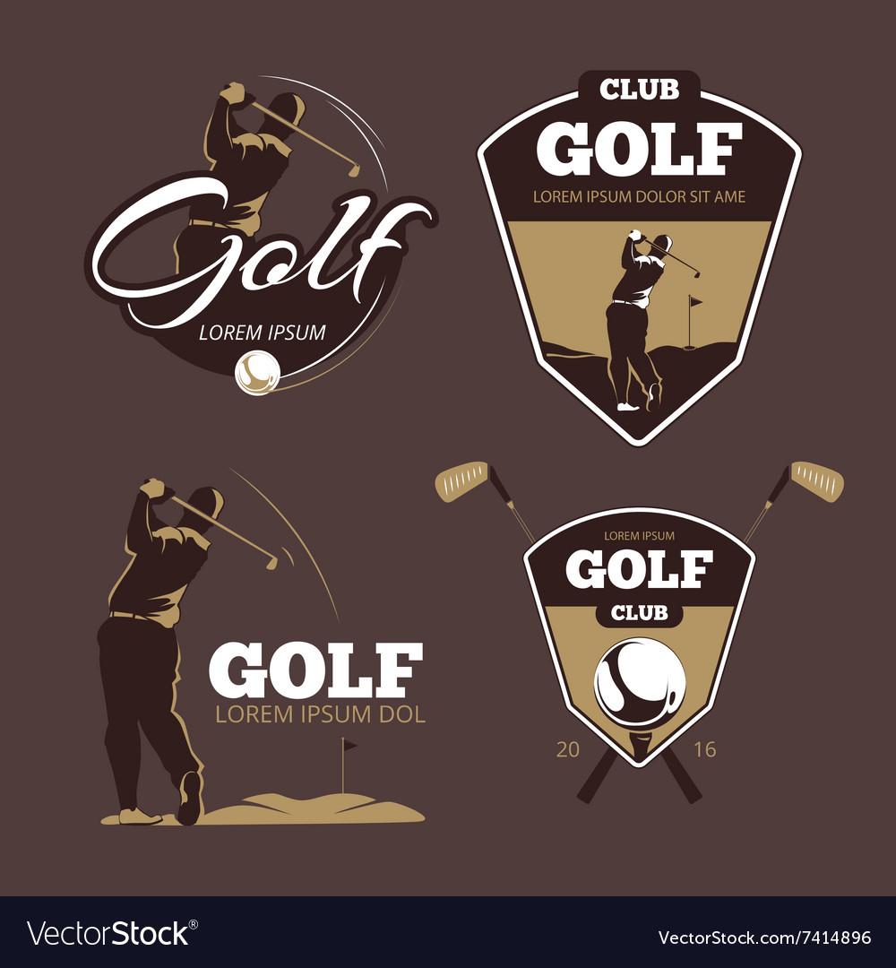 Golf country club logo templates vector image