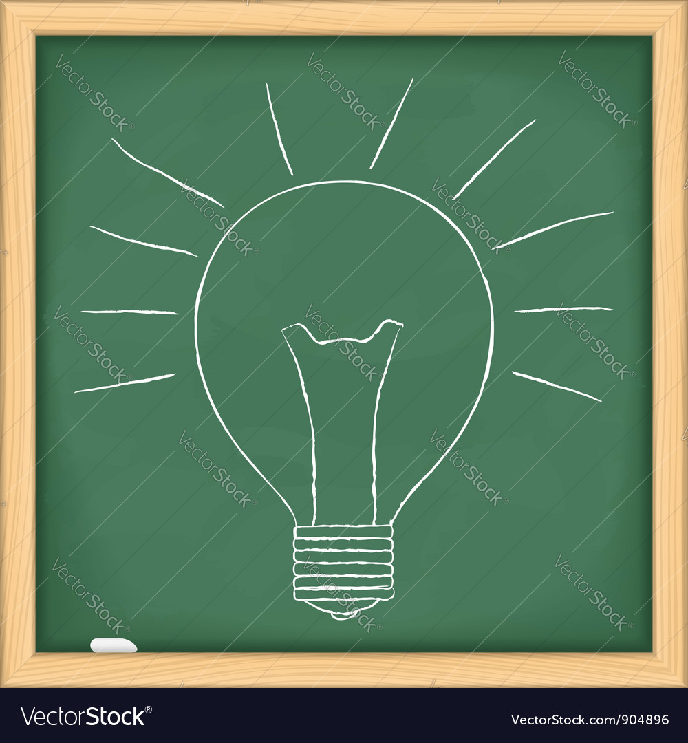 Hand drawn bulb vector image