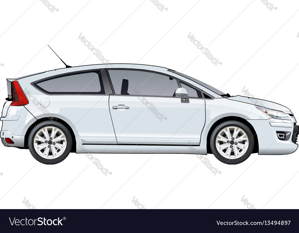 Car template isolated on white vector image