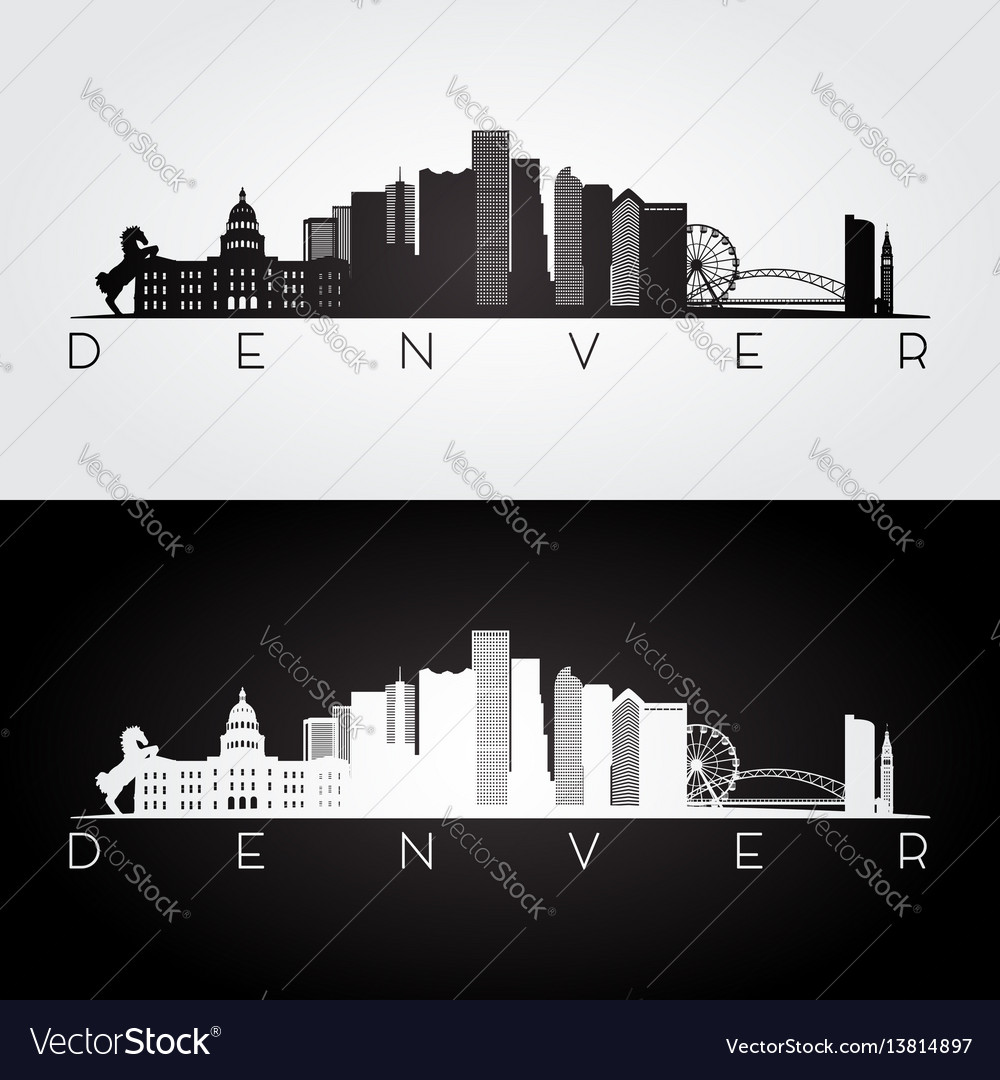 Denver usa skyline vector image