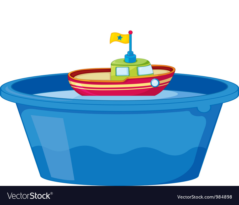Toy Boat Vector Image