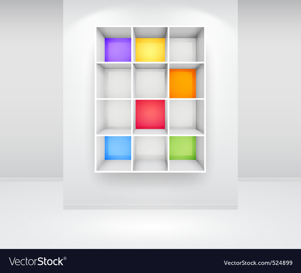 3d isolated empty colorfu vector image