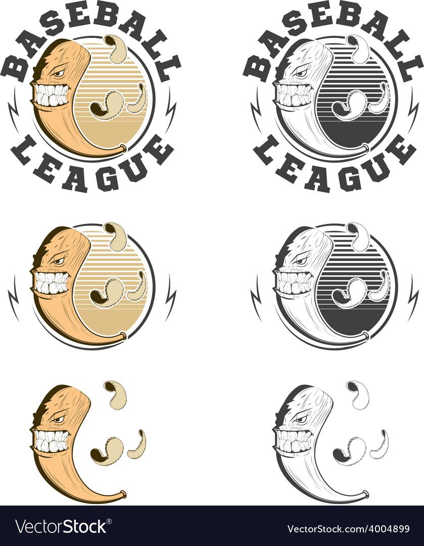 Set of baseball labels and badges vector image
