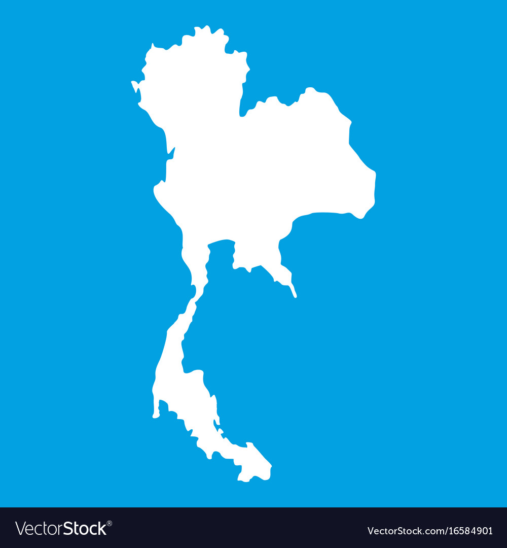 Thailand map icon white royalty free vector image thailand map icon white vector image gumiabroncs Images