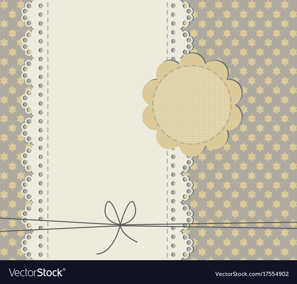 Cute baby shower card with copy space vector image