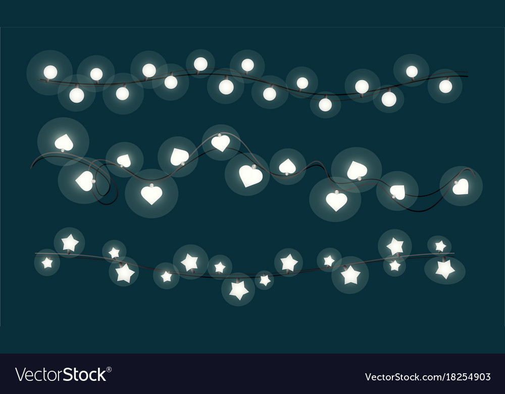 Shining christmas lights vector image