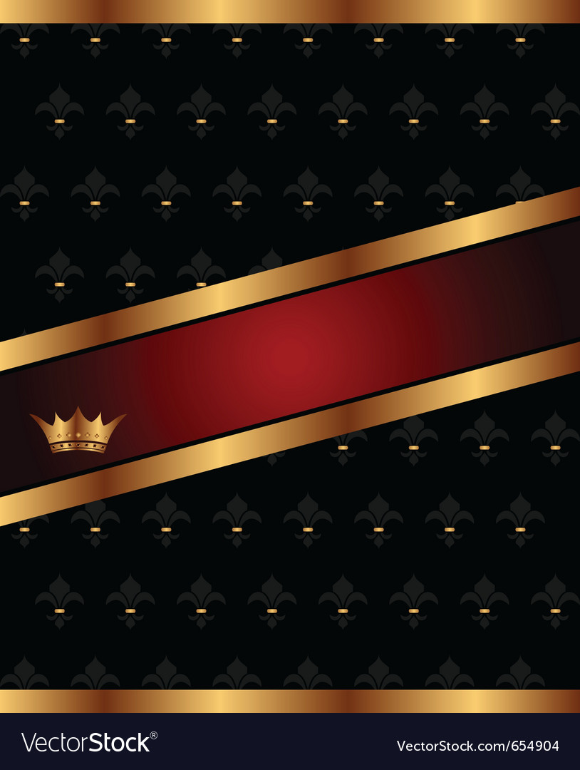 Background with golden luxury crown - Vector Image