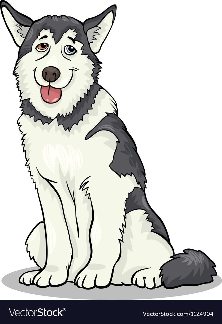 Husky or malamute dog cartoon vector image