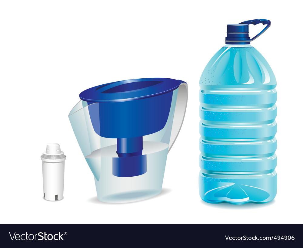 Clean water vector image