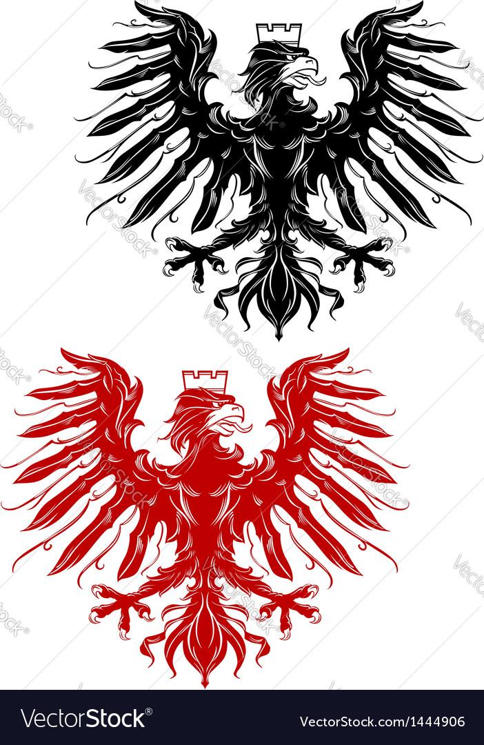 Royal heraldic eage vector image