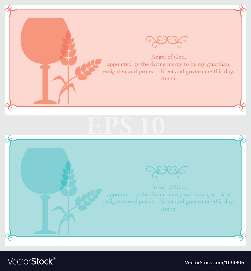Tickets invitation for religious events vector image