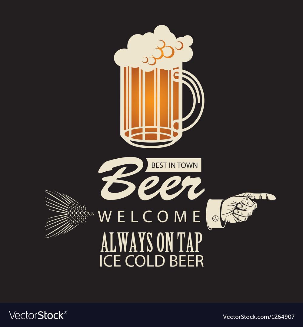 Best beer in town vector image