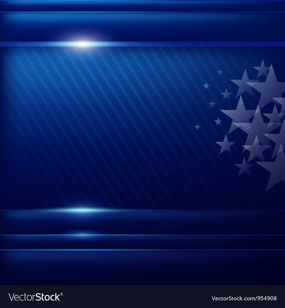 Abstract blue background flag of american vector image