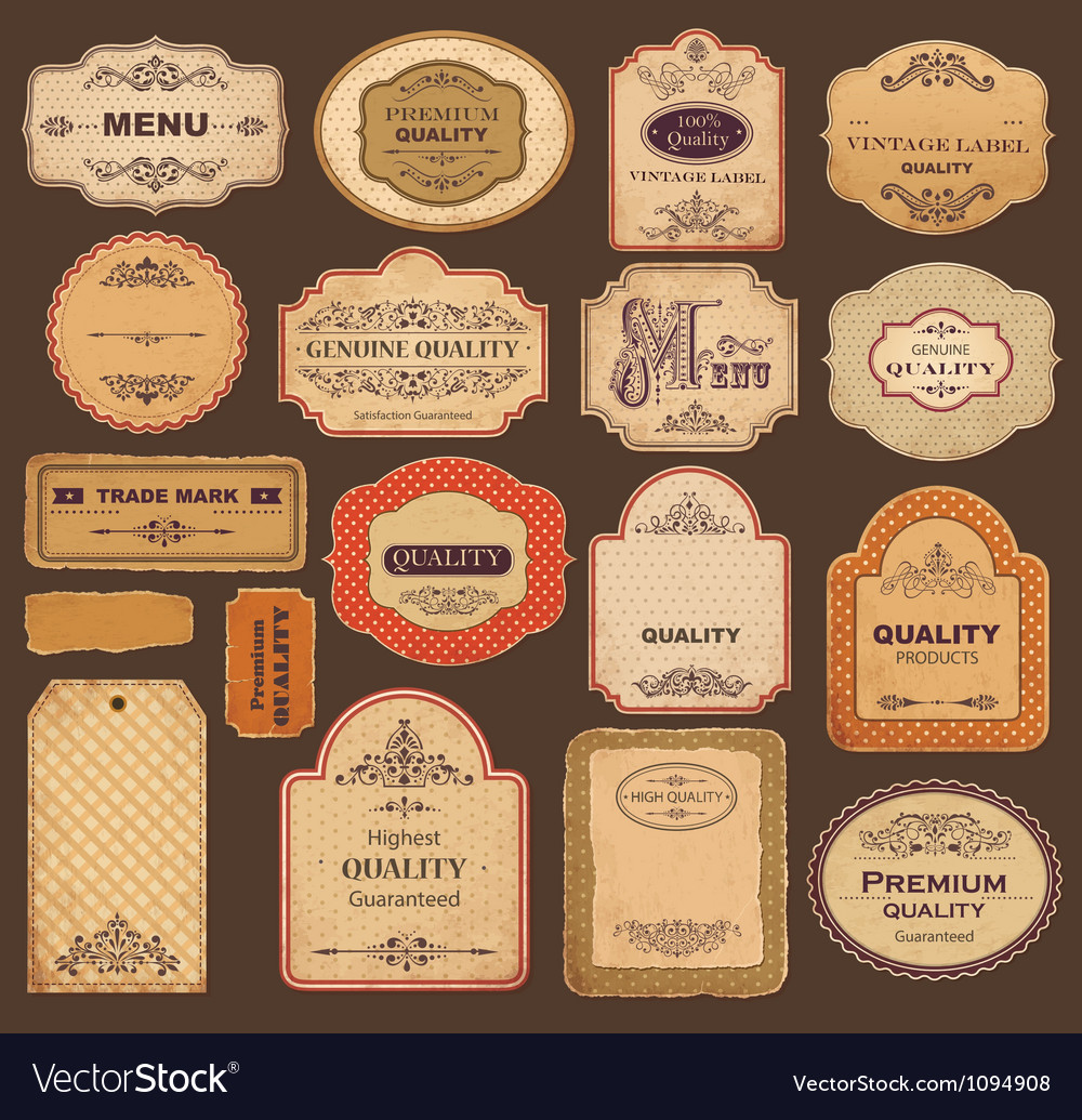 Collection of Xmas labels vector image