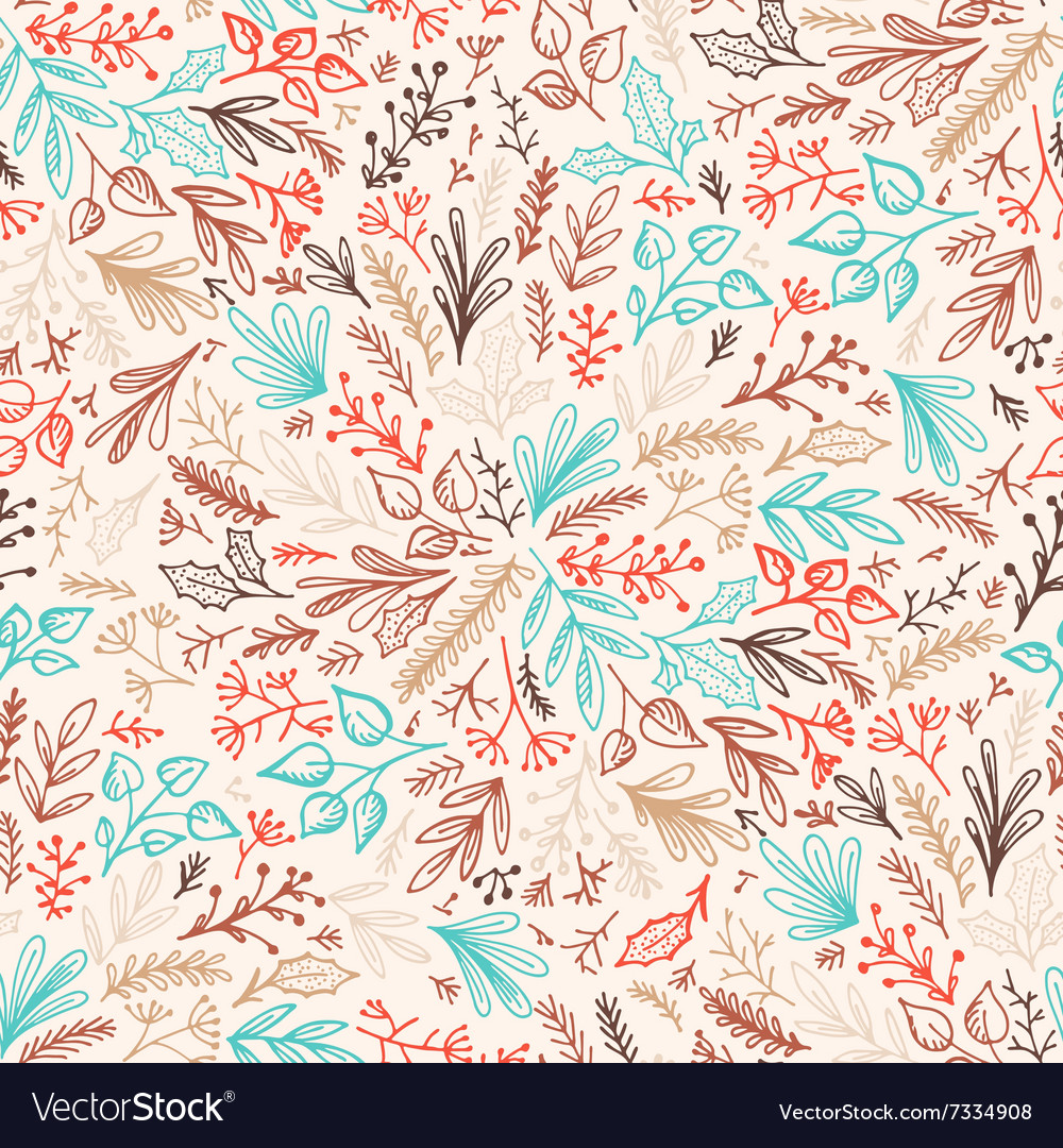Hand drawn pattrn background vector image