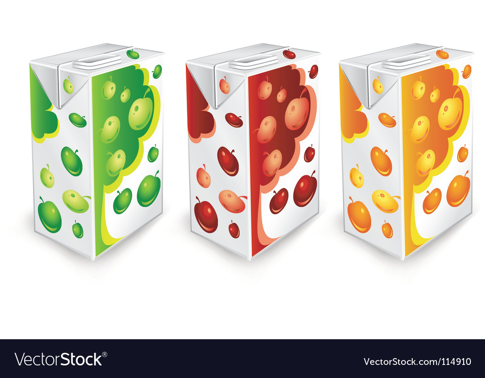 Apple package vector image