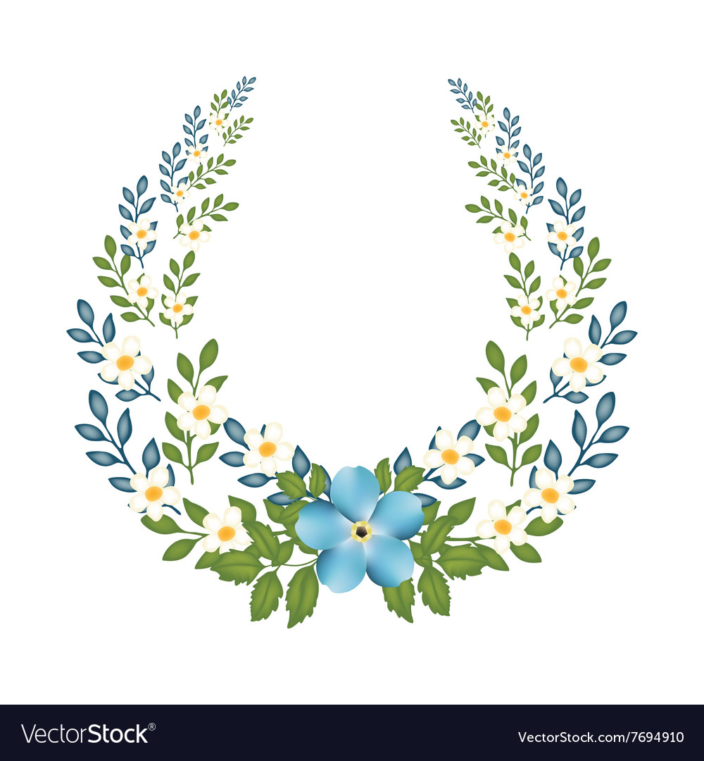 Autumn Floral Frame with a ring concept vector image