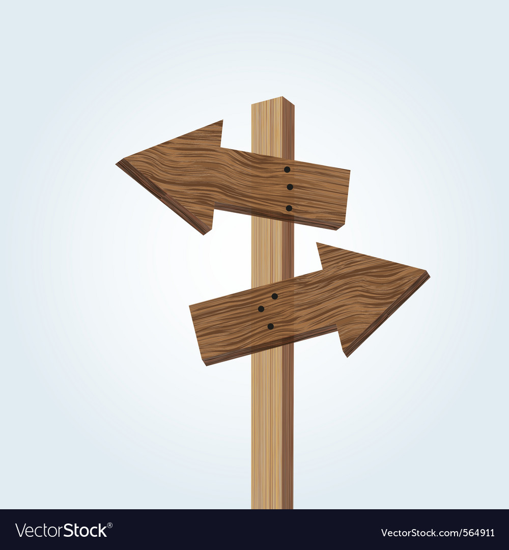Wooden arrow signs vector image