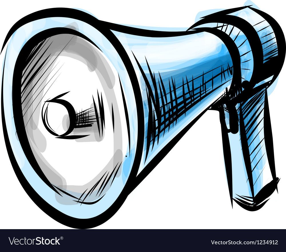 Megaphone isolated on white background vector image