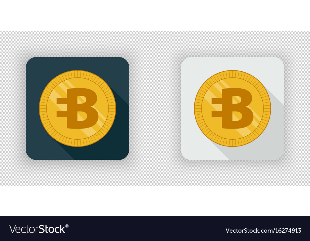 Light and dark bytecoin crypto currency icon vector image