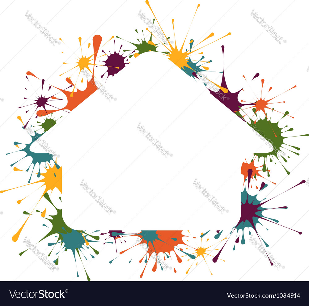 Building shape in splashes background vector image