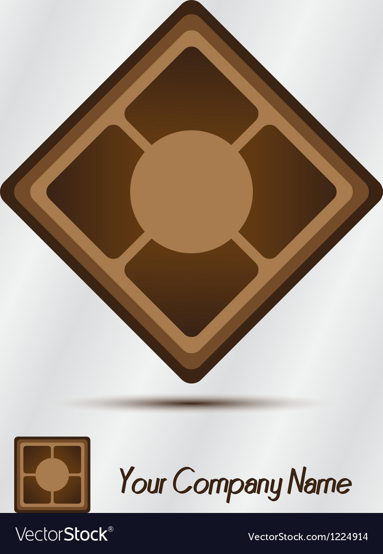 Wooden ceramic logo Vector Image