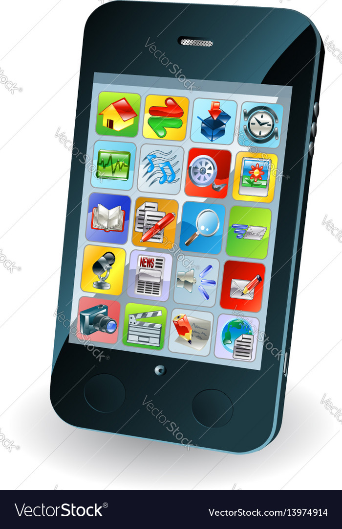 New smart mobile phone vector image