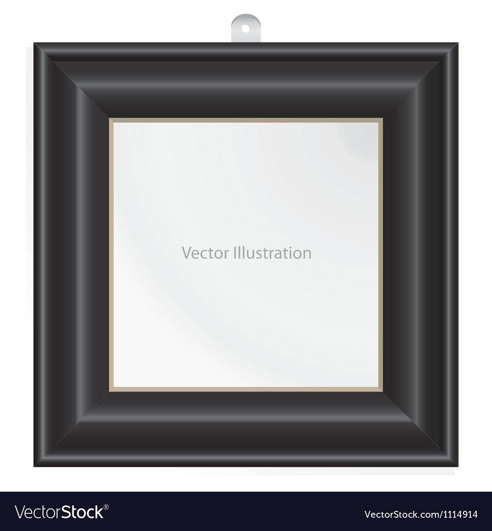 Simple Black Color Frame vector image