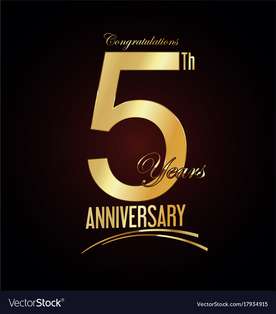 Anniversary golden sign 5 years royalty free vector image anniversary golden sign 5 years vector image biocorpaavc Gallery
