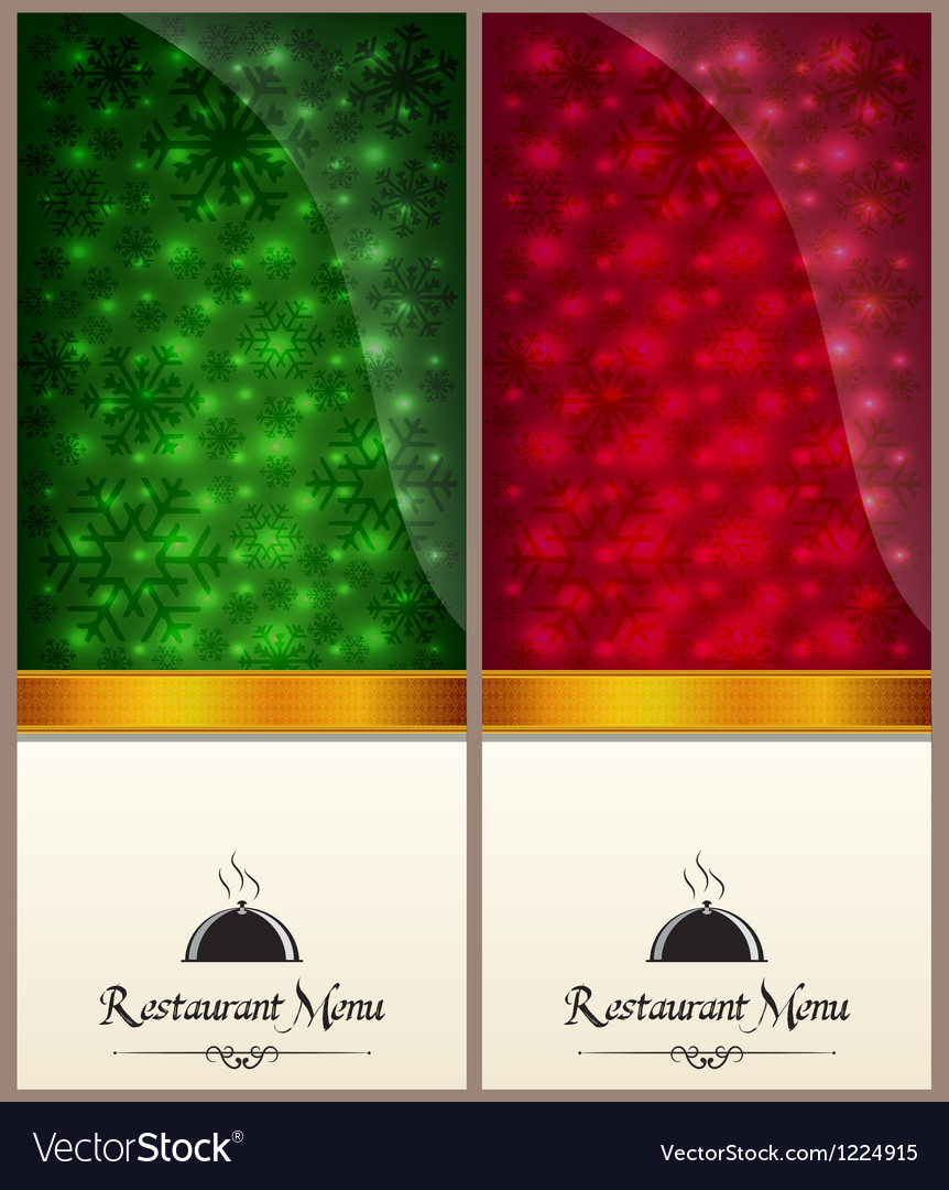 Red and green food menu vector image